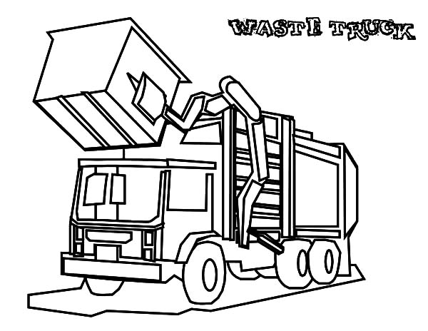 600x464 Garbage Waste Truck Coloring Pages
