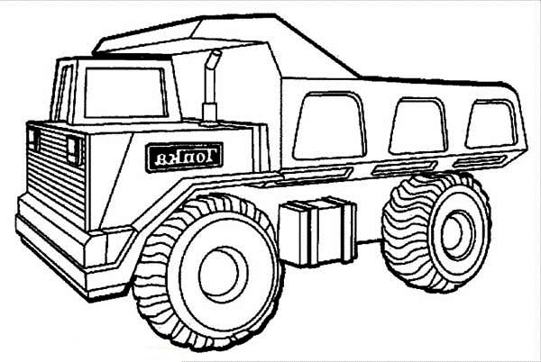 600x402 Interesting Dump Truck Coloring Pages 95 About Remodel Coloring