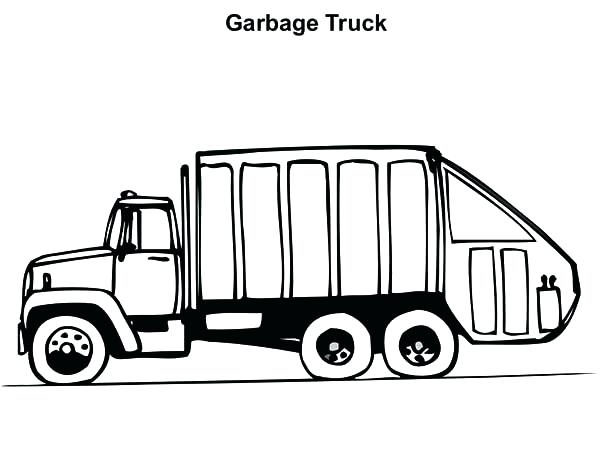 600x473 Operating Garbage Truck Coloring Pages Download Print