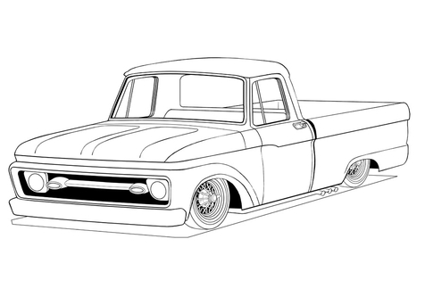 476x333 Truck Coloring Pages Page Image Clipart Images
