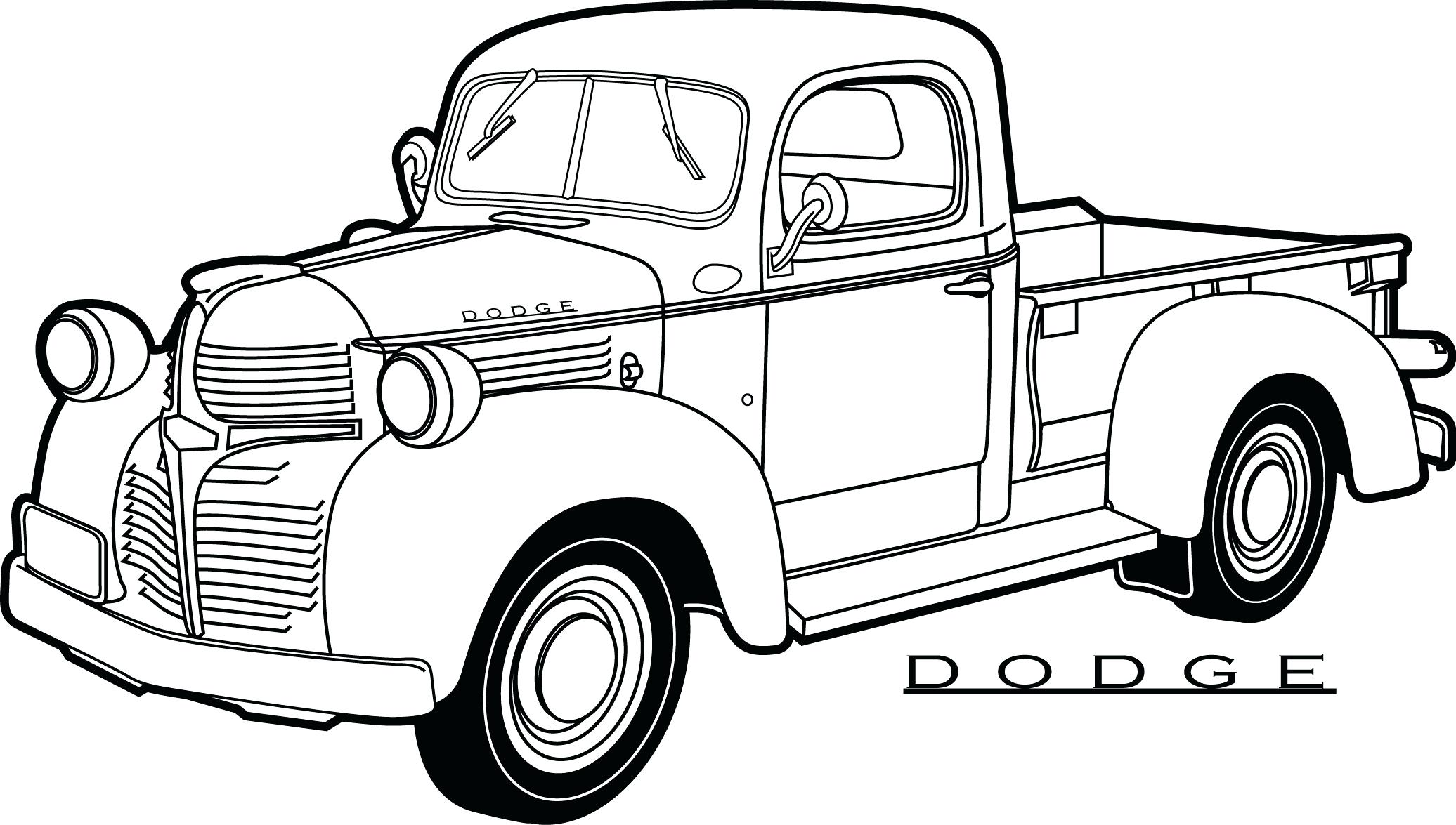 2072x1175 Van Trucks Coloring Page Transportation Pages Truck Monster Book