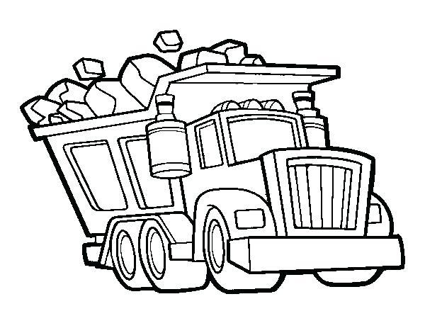 600x470 Truck Coloring Sheet