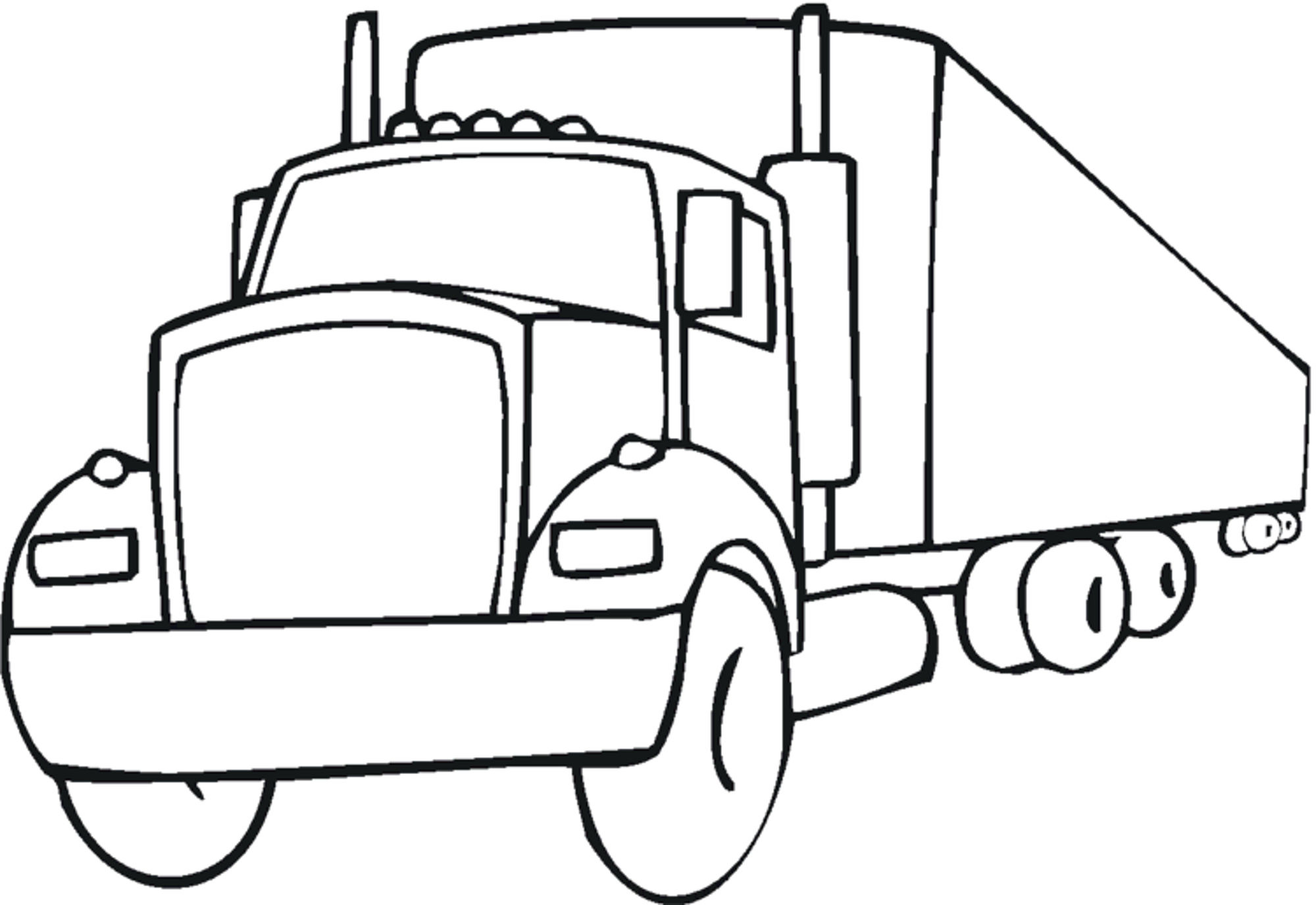 2000x1376 Coloring Pages Kids Easy Fire Truck Printable Boy