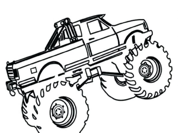618x464 Coloring Cool Monster Truck Coloring Pages Printable. Monster