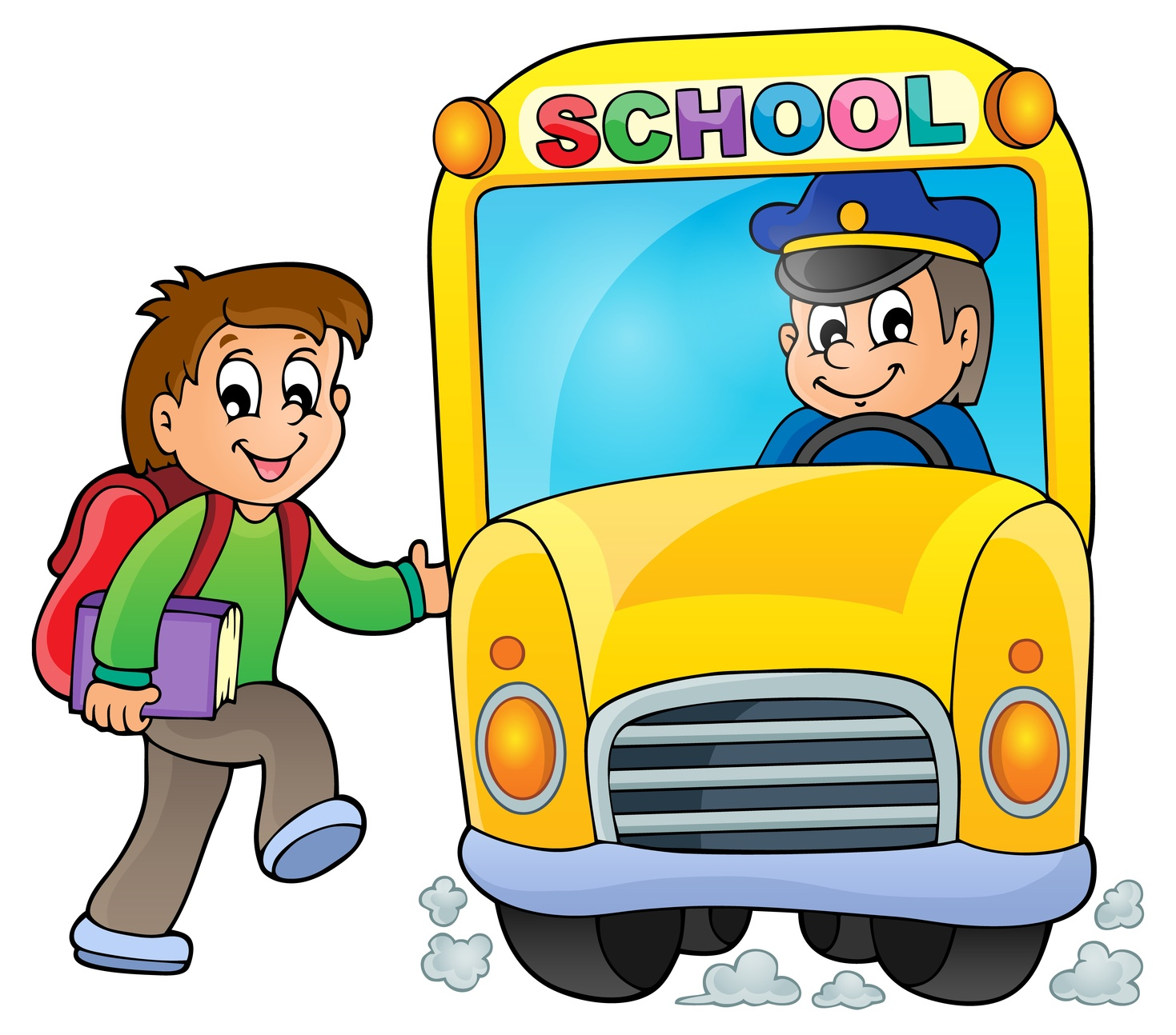 1469x1294 Free School Bus Driver Clipart Image