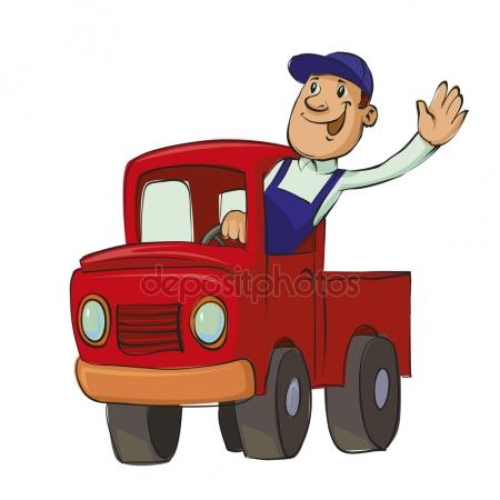 450x450 Happy Truck Driver Stock Vectors, Royalty Free Happy Truck Driver