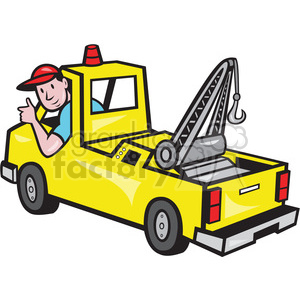 300x300 Royalty Free Tow Truck Driver Rear 388269 Vector Clip Art Image