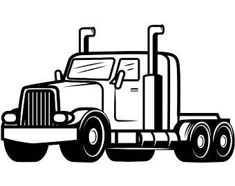 340x270 Semi Truck Art Etsy