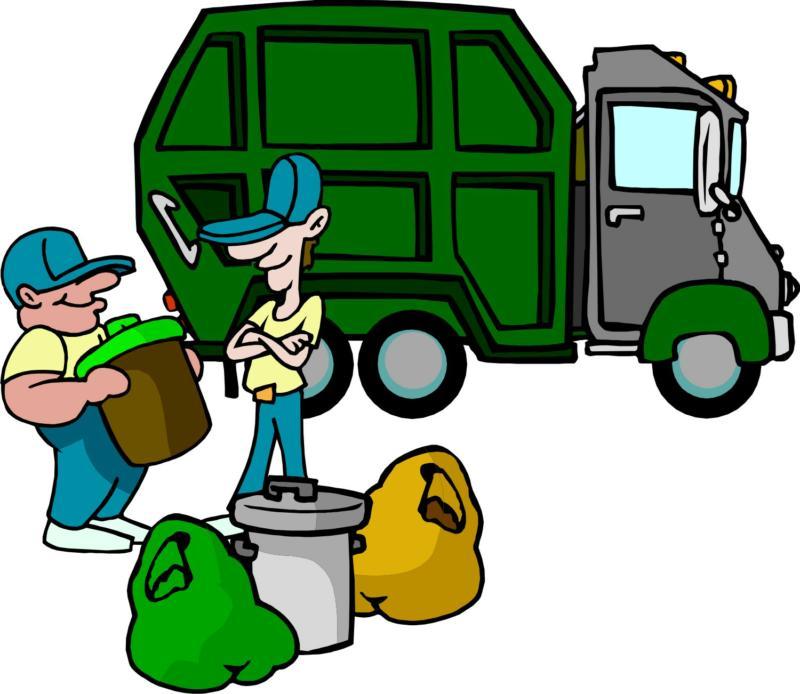 800x694 Truck Trash Clipart