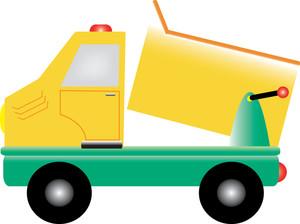 300x224 Dump Truck Clipart Image