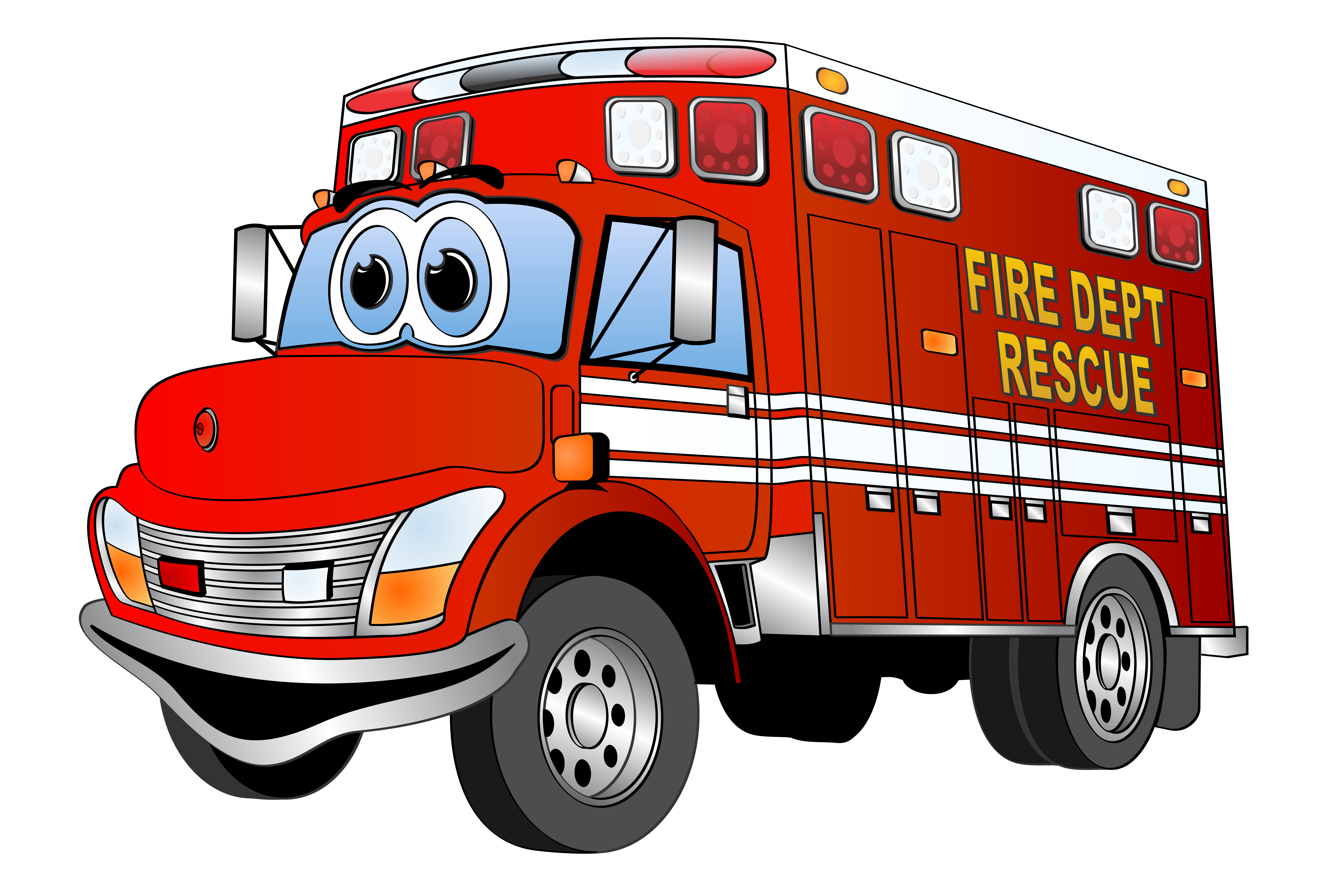7628x5085 Fire Engine Clip Art Many Interesting Cliparts