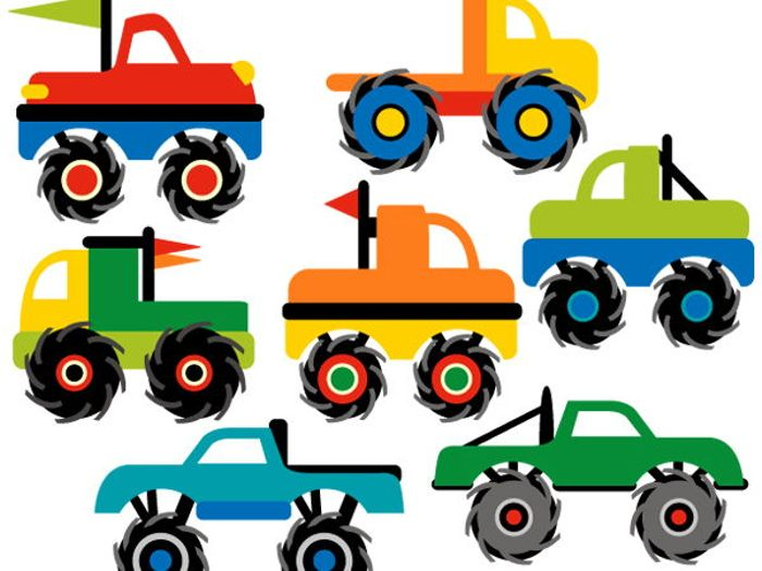 700x525 Monster Truck Collection Clip Art Graphics By Revidevi