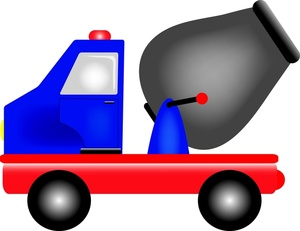 300x231 Cement Truck Clipart Image