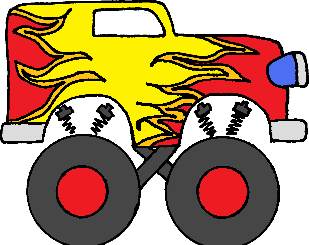 1233x979 Monster Truck Clip Art Pictures Free Clipart Images 8