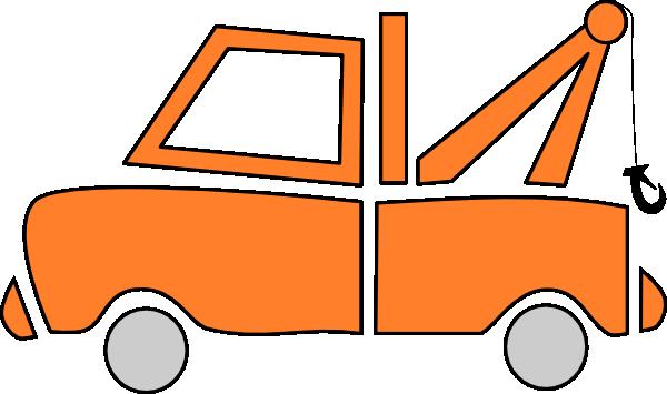 600x355 Orange Tow Truck Clip Art