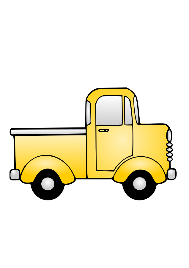 636x900 Clip Art Truck Clipart Image