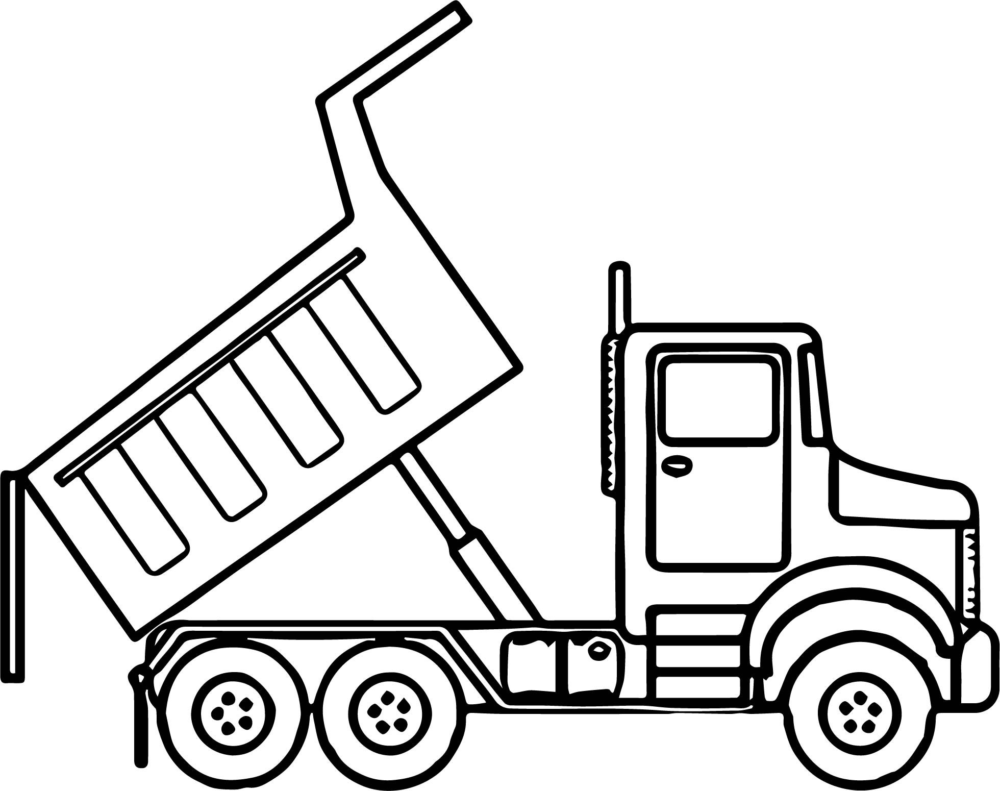 1960x1550 Dump Truck Outline Coloring Pages