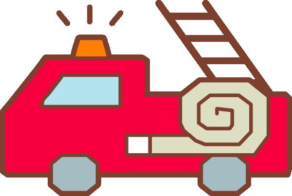 600x403 Fire Truck Outline Clipart