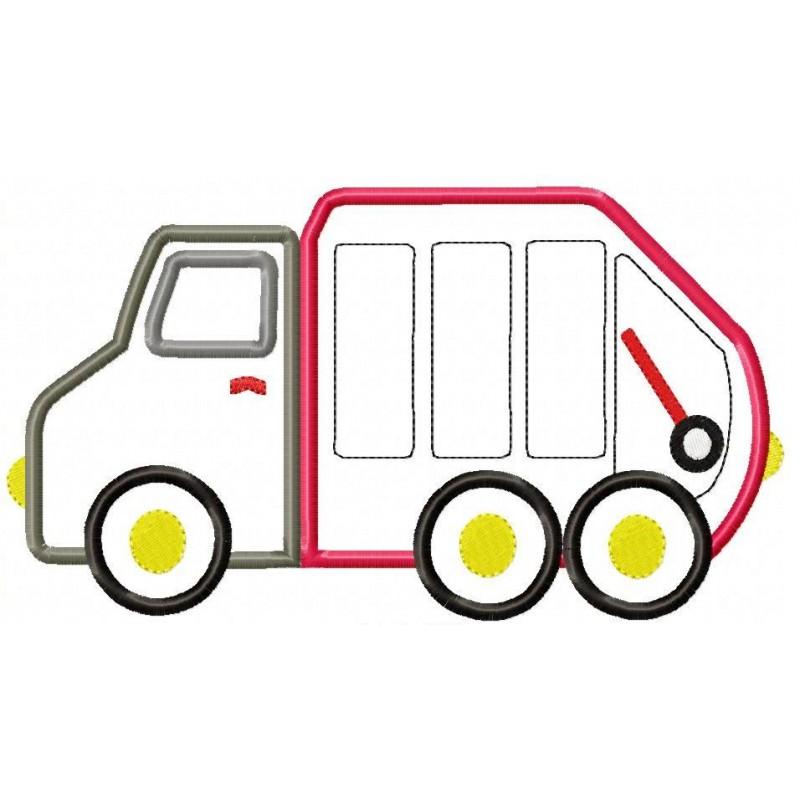 800x800 Garbage Truck Applique Design