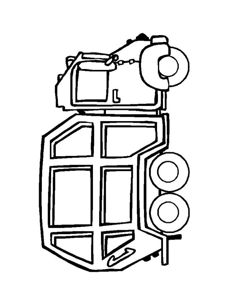 736x982 Garbage Truck Outline Clip Art