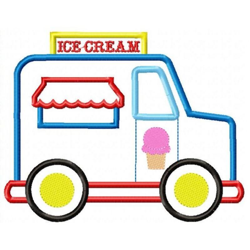 800x800 Ice Cream Truck Applique Design