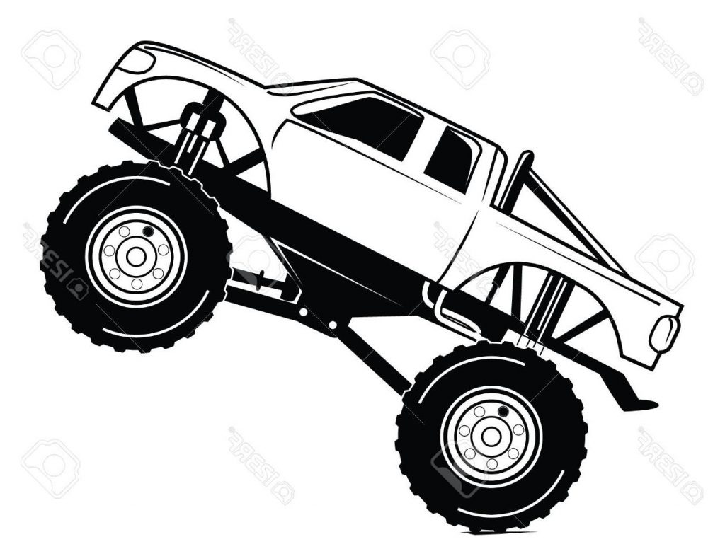 1024x776 Best Monster Truck Outline With Free Clipart Photos