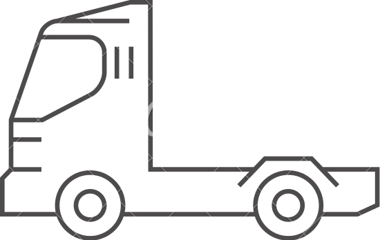 550x348 Outline Icon Container Truck