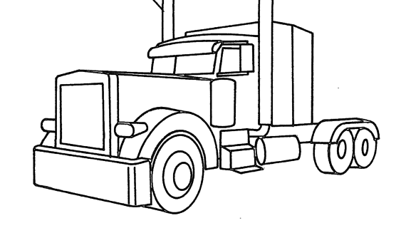 570x320 Semi Truck Outline Drawing Image Gallery Of Semi Truck Outline