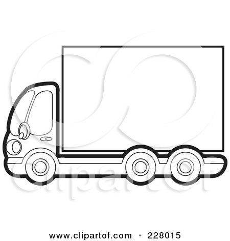 450x470 Semi Truck Outline