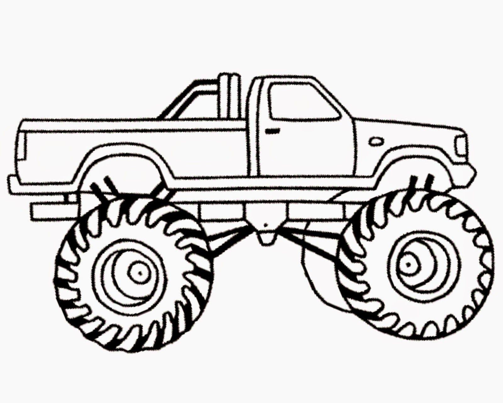 1600x1280 Sensational Monster Truck Outline Free Clip Art Of Clipart 2856