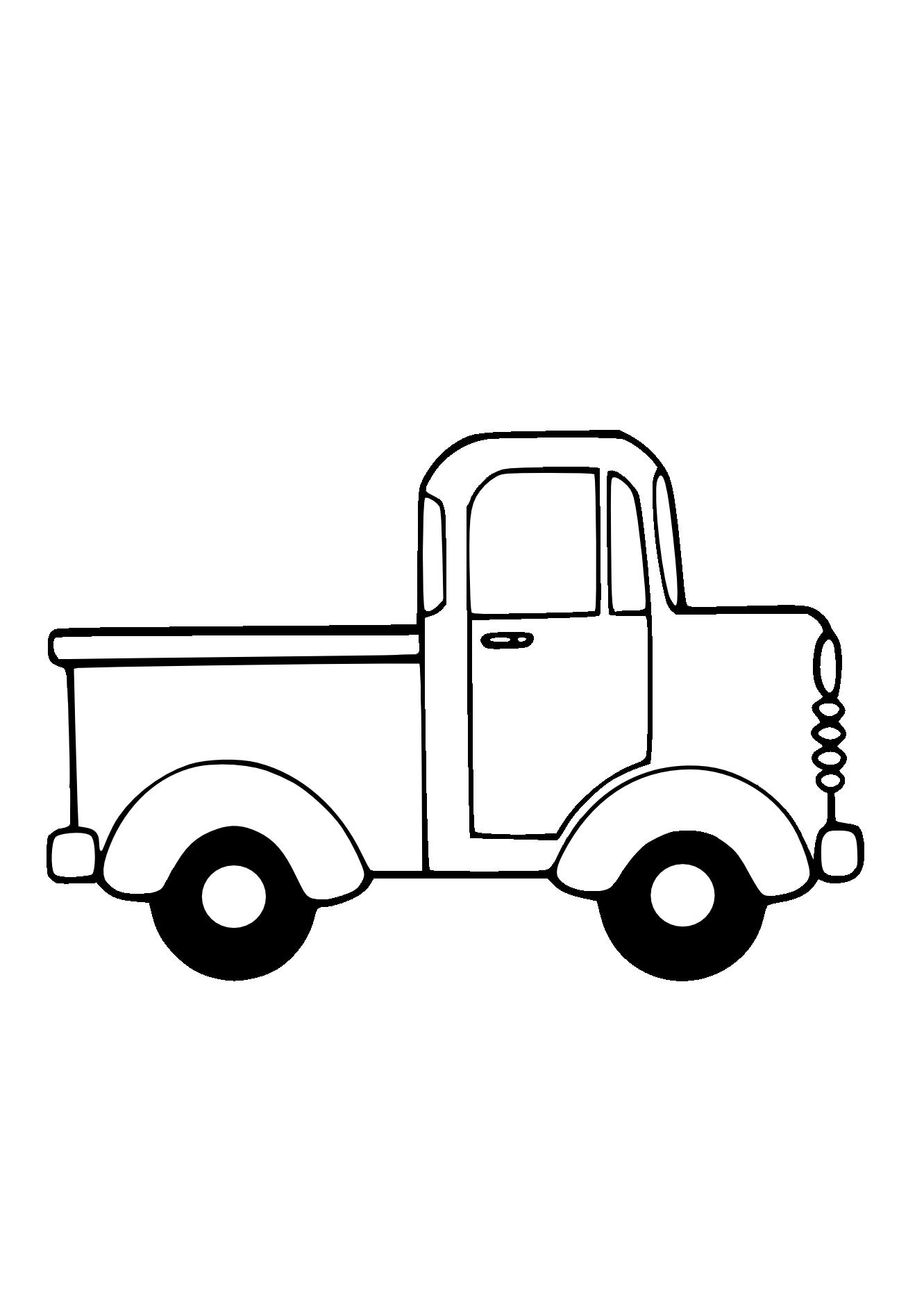 1331x1882 Truck Outline Clip Art
