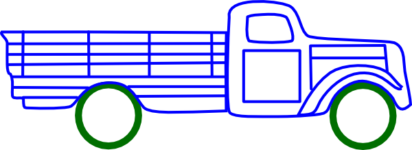 600x218 Truck Outline Clip Art