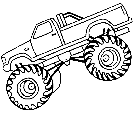 560x475 Chic And Creative Monster Truck Outline Off Road Coloring Page Car