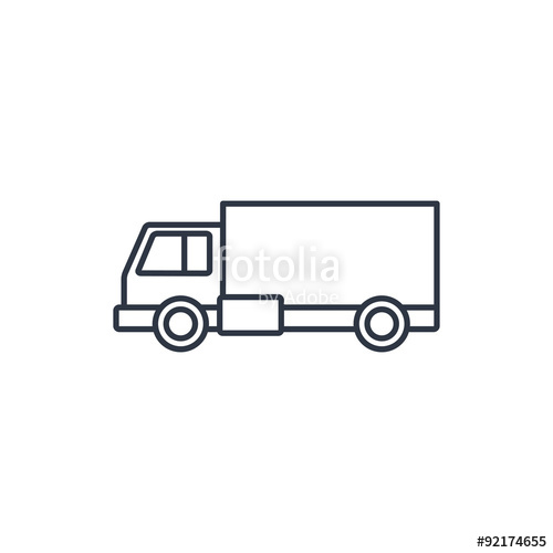 500x500 Delivery Truck Outline Icon Stock Image And Royalty Free Vector