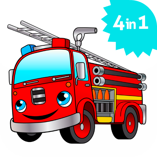512x512 Cool Big Fire Truck Games For Kids Free Activity App