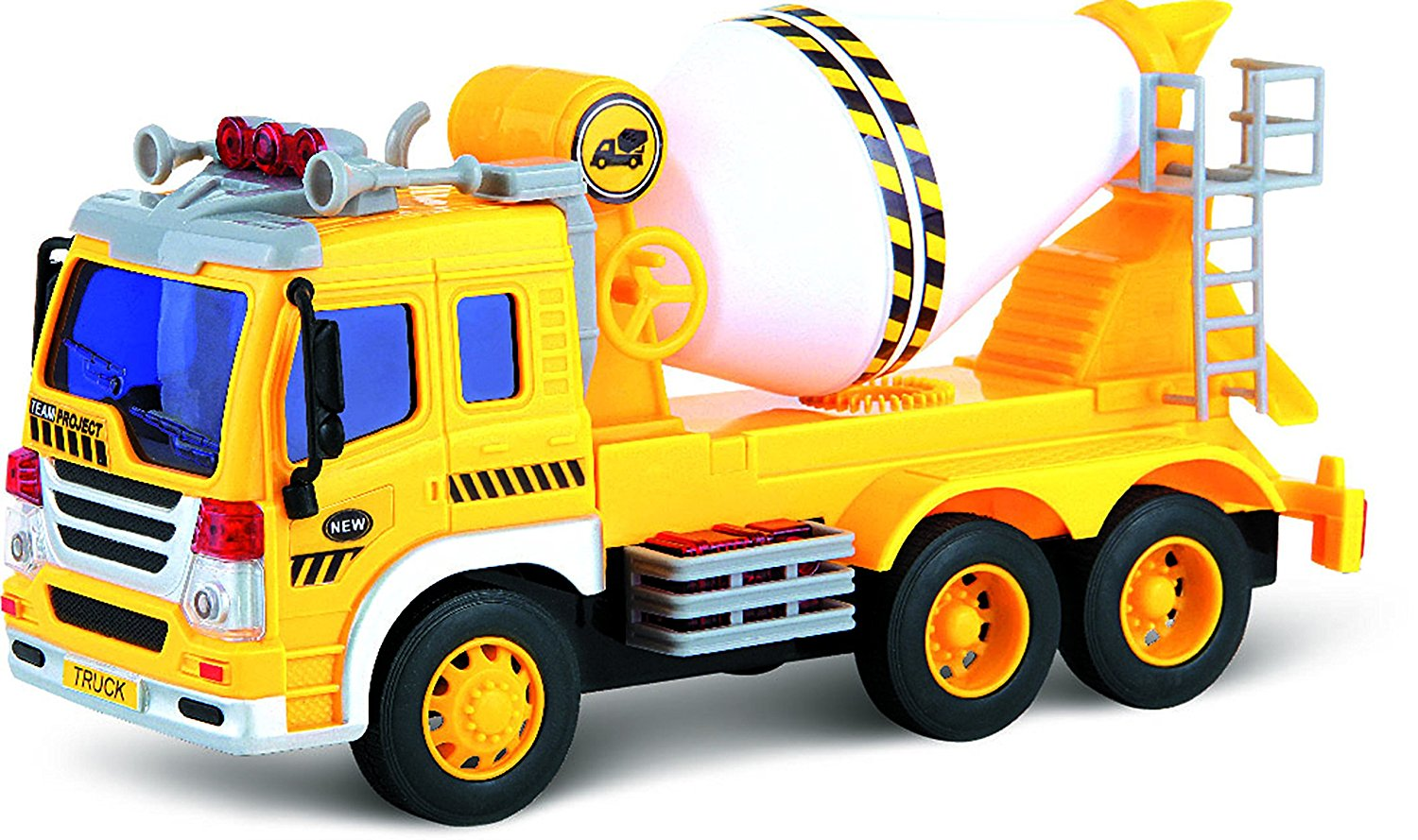 1500x889 Friction Powered Toy Cement Mixer Truck With Lights