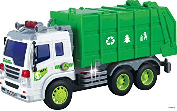 355x223 Memtes Friction Powered Garbage Truck Toy With Lights