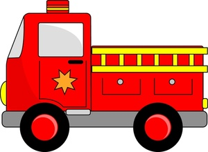 300x220 Clipart Of Firefighters On Fire Truck For Kids