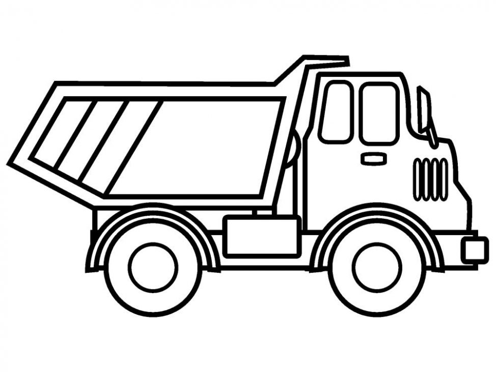 974x731 Coloring Pages Trucks Colouring Pages Printable Dump Truck