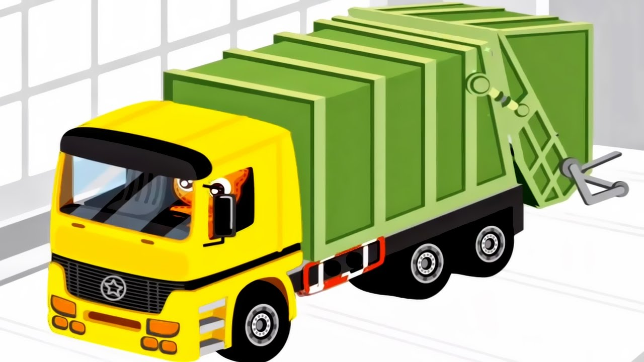 1280x720 Garbage Truck Video For Children Garbage Truck
