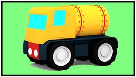 266x150 Gas Truck And Fuel Station Construction Puzzle 3d Cartoon Trucks