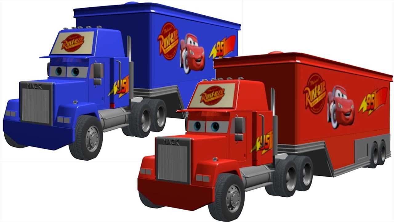 1280x720 Learn Colors With Mcqueen And Truck Toy Coloring For Children