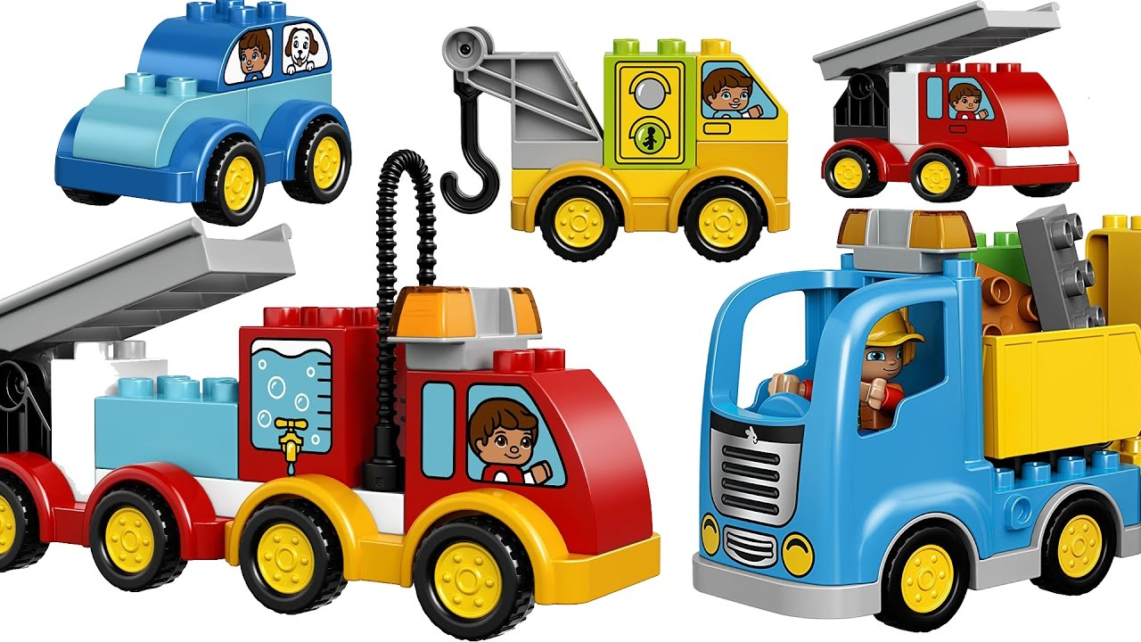 1280x720 Learning Cars Trucks Vehicles For Kids With Building Blocks Toys