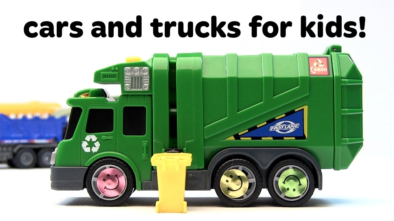 1280x720 Toy Cars For Kids! Monster Trucks, Race Cars, And Dump Truck Toys