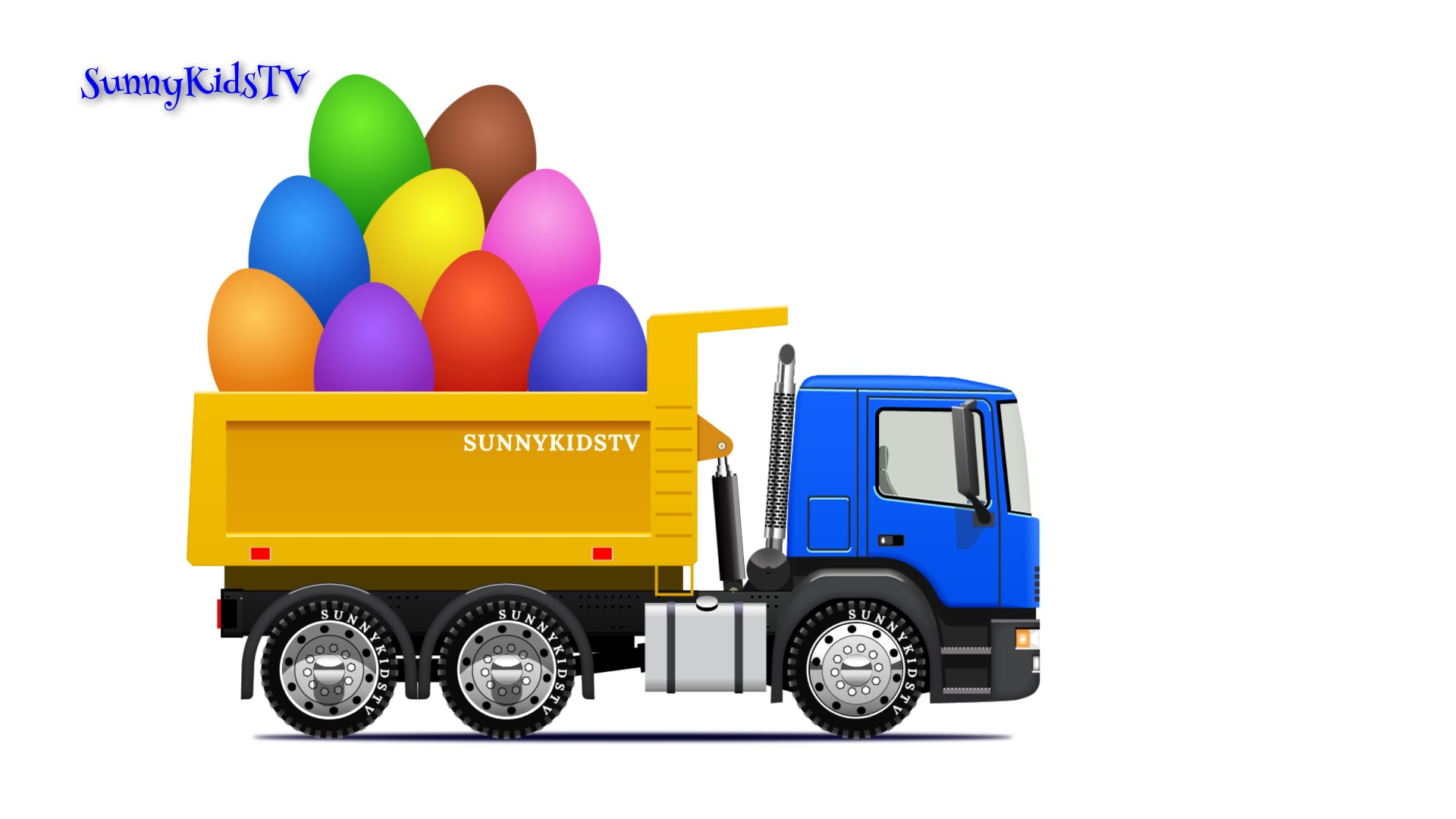 1920x1080 Trucks For Kids. Dump Truck. Surprise Eggs. Learn Fruits. Video