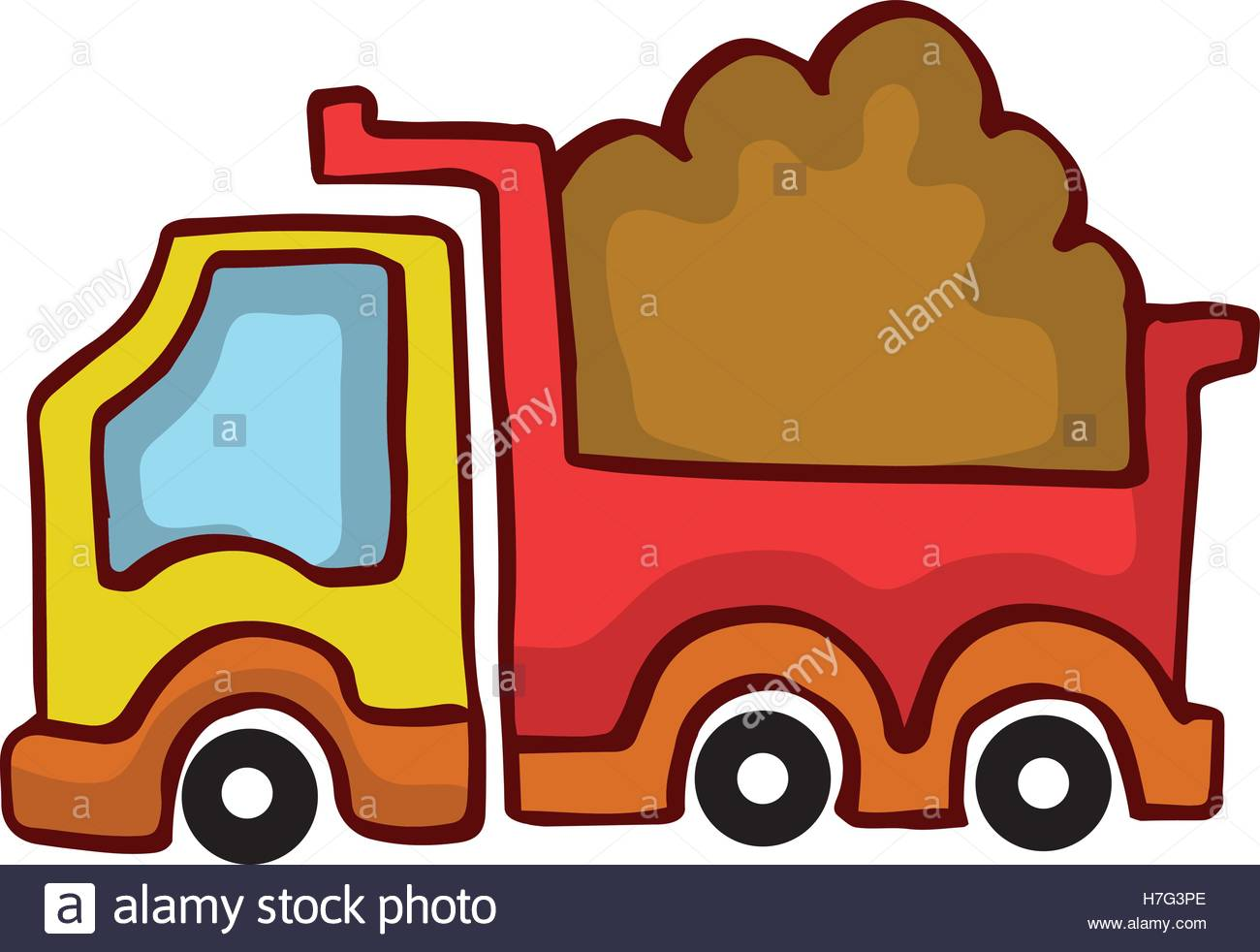 1300x982 Vector Cartoon Dump Truck Design For Kids Collection Stock Vector