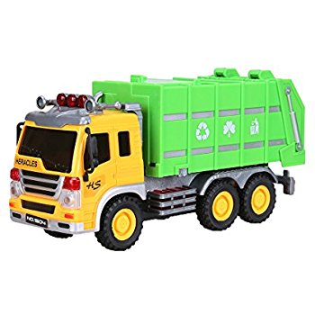 350x350 Cltoyvers Friction Powered Garbage Truck With Openable