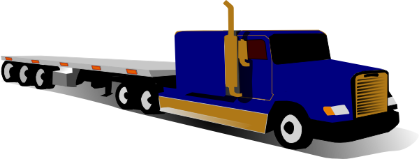600x228 Top View Of 18 Wheeler Clipart