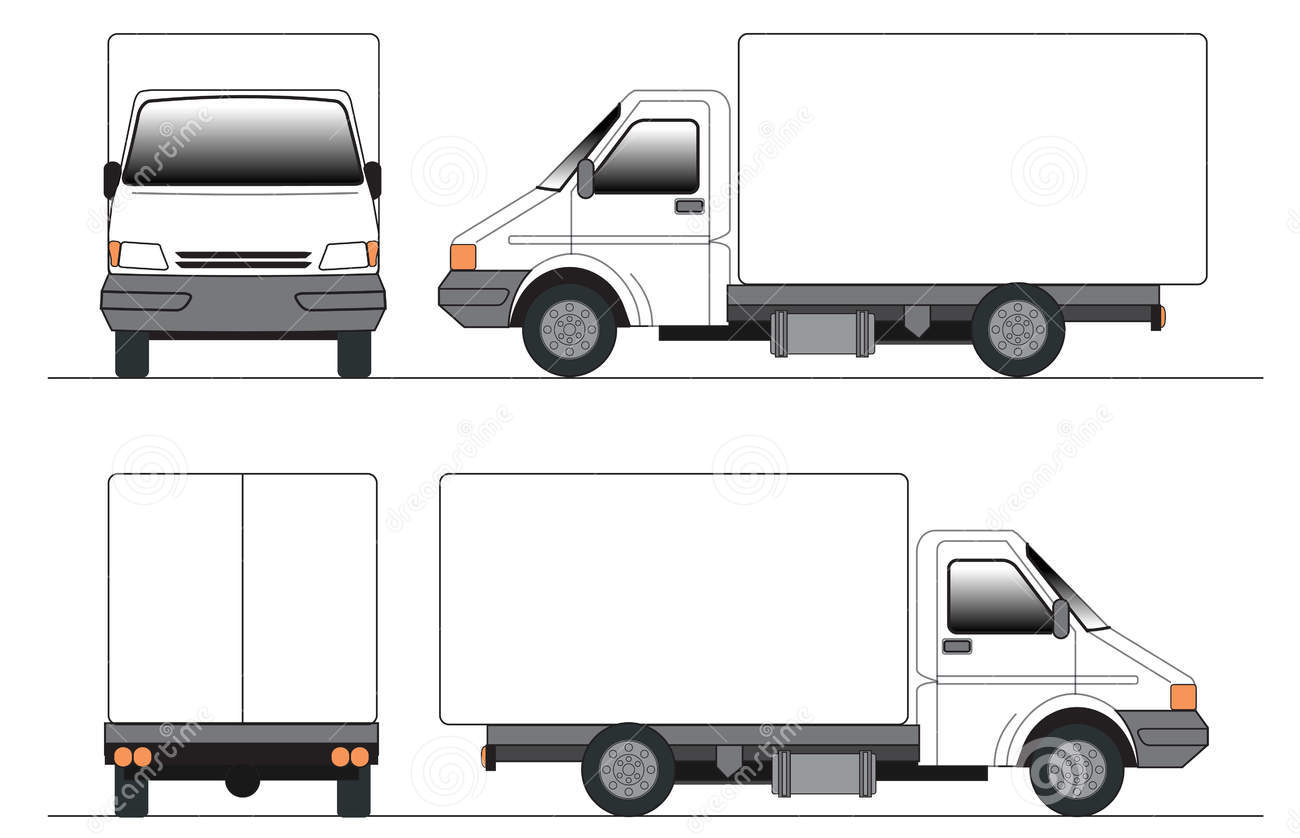 1300x838 Truck Front View Clipart