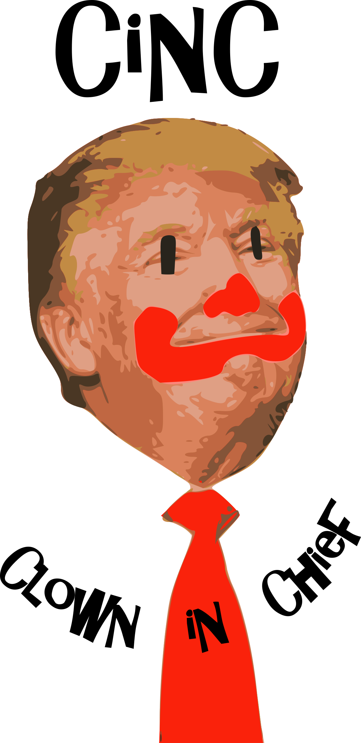 1167x2400 Clown In Chief, Donald Trump Face Vector Clipart Clown In Chief